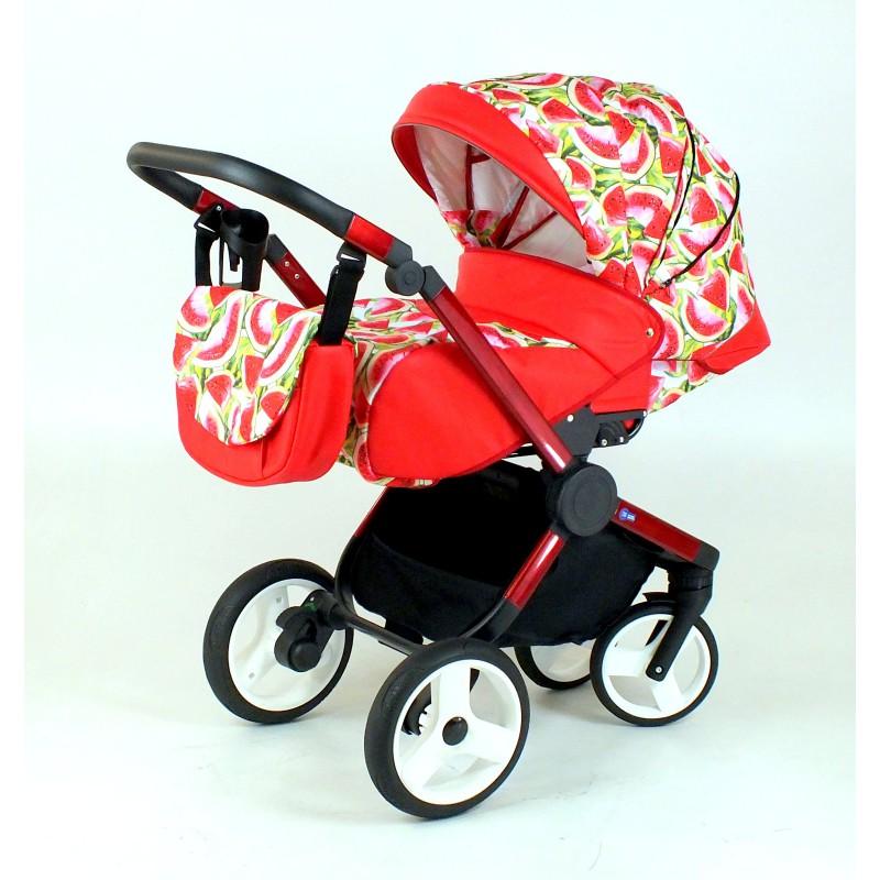 Wózek spacerowy MiMax Arbuzy z czerwonym