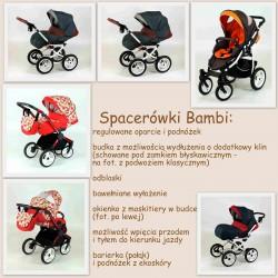 Wózek spacerowy MiMax szary z turkusowym