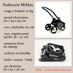 MiMax wózek turkusowo szary z połyskiem