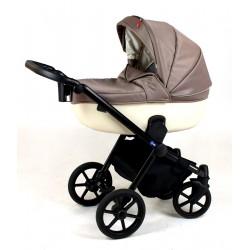 Rever kremowy wózek z szarym