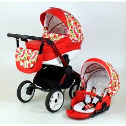 MiMax czerwony wózek w arbuzy