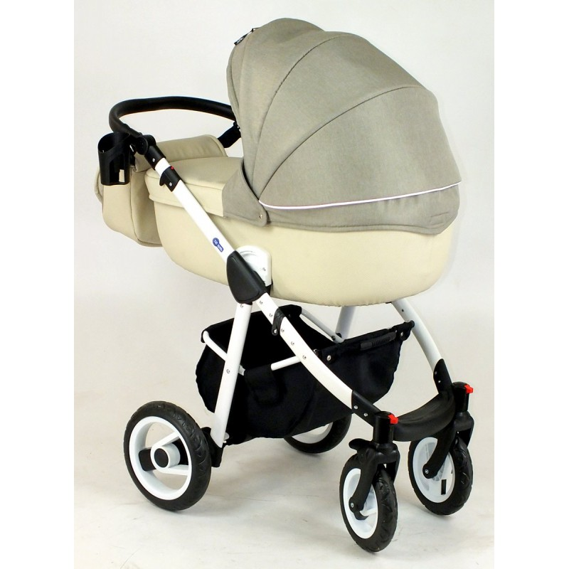 Shotti kremowy wózek z szarym