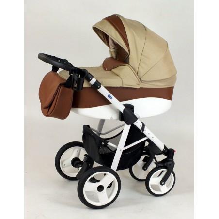 Shotti czekoladowy wózek z ciemnym beżem