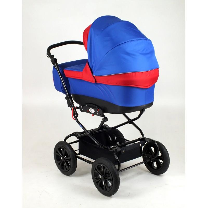 Classic II niebieski wózek z czerwonym