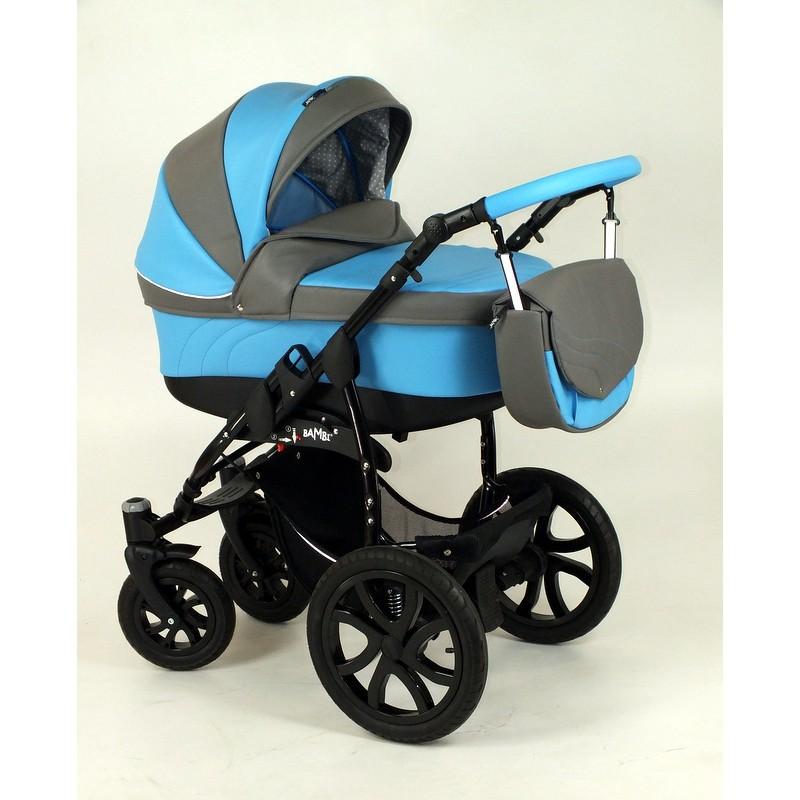 Dodger błękitny wózek na dużych kołach