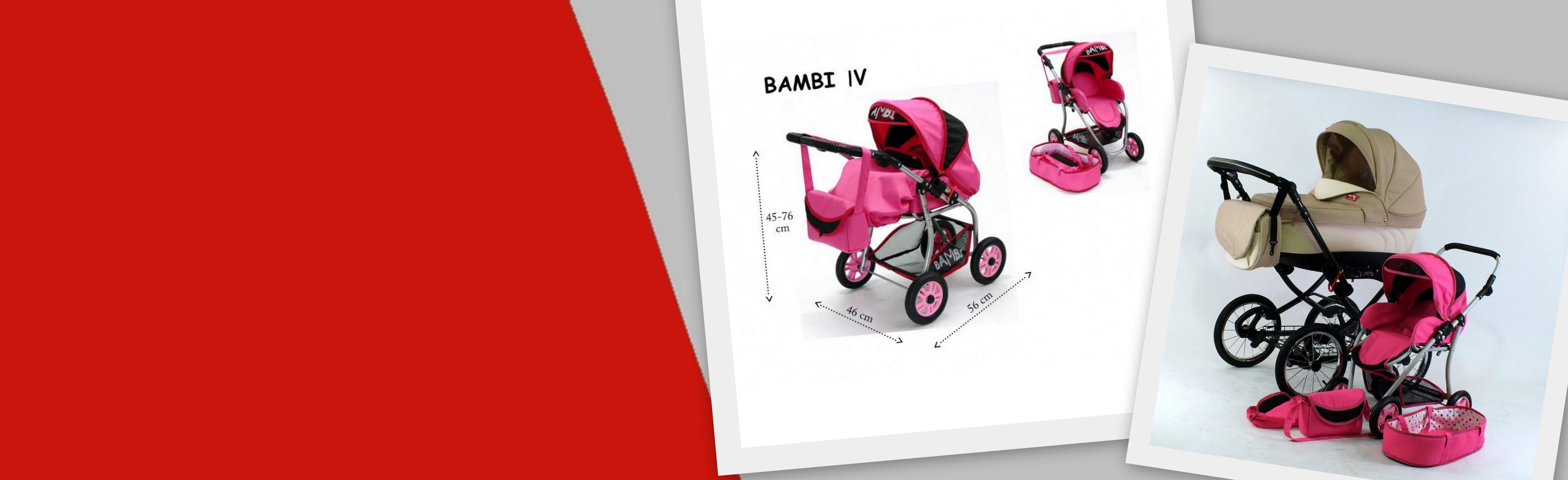 Wózek lalkowy Bambi